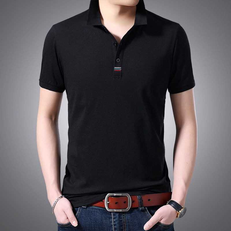 High Quality Men Polo Shirt Mens Short Sleeve Solid Polo Shirts For Men Clothes Casual Business Polos M-4XL