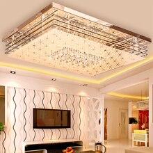 Plafonnier rectangulaire en cristal, design Simple et moderne, idéal pour un salon, une chambre à coucher, SJ8, ya74