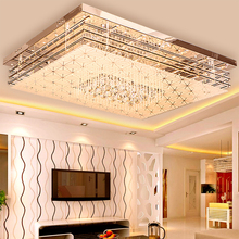 Đơn giản hiện đại ốp trần nhà hình chữ nhật đèn đèn chùm phòng ngủ đèn phòng khách đèn SJ8 Moring ya74 pha lê lampen