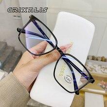 CRIXALIS las mujeres transparentes gafas computadora montura cuadrada para gafas mujer hombres radiación protección azul pantalla bisel UV400