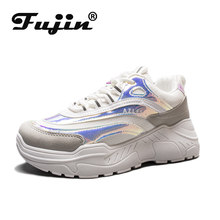 FUJIN Brand Women Casual Sneakers Women Men Flats Female Shoes Lace Up Height Increasing for Comfortable for Women Shoes(China)