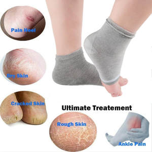 Foot-Heel-Socks Moisturizing-Gel-Liners Rupture Silicone Hot 2PCS Anti-Cracking Exfoliator