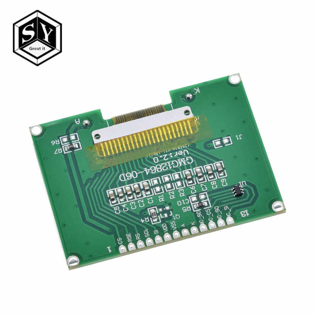 Besar Itu Lcd12864 12864-06D 12864, LCD Modul, COG, dengan Cina Font Layar Dot Matrix, SPI Antarmuka