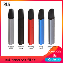 Electronic Cigarette Vape kit RUi Starter Self-fill pod kit 450mah Built-in battery 1.8ml Pod system kit vs MINIFIT/q16 pro e cigarette think vape asteroid kit built in 420mah battery pod system vape kit with 3pcs 1 5ml cartridge vs justfog minifit