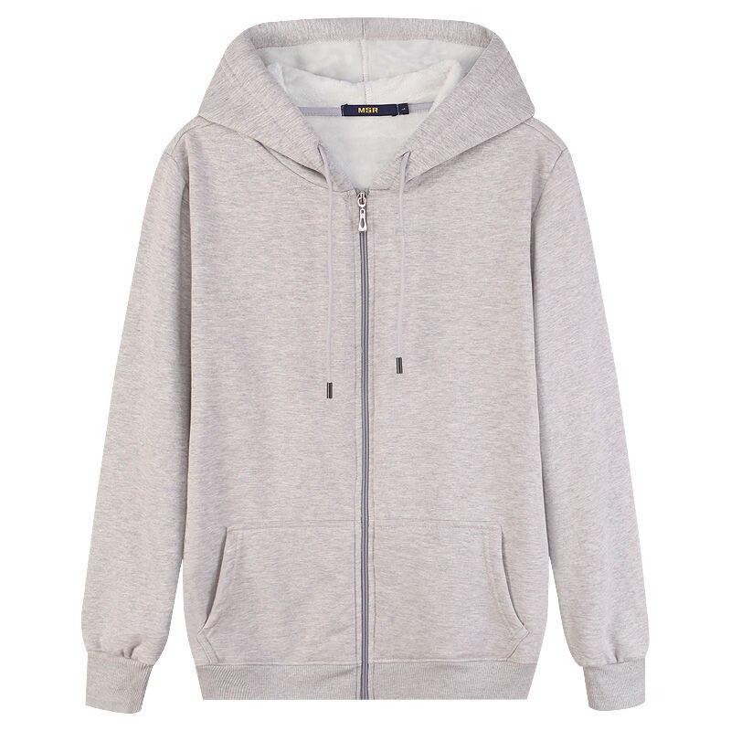 2020 Autumn Winter Mens Sweatshirts Solid Slim Long Sleeve Warm Hoodies Men Stand Collar Zipper Coats Men Hoodies 9