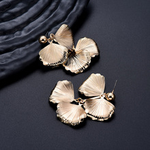 NJ Fashion Butterfly Shape Gold Silver Drop Earrings Cool Chic For Woman Girls Party Christmas Present Jewelry