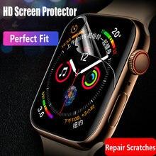 Protetor de tela para apple watch 6 5 4 se 44mm 40mm série iwatch 3 42mm 38mm (não vidro temperado) hd protetor apple assista filme
