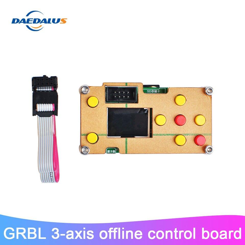 Mini 3 Achse Control Board Offline Controller GRBL Controller Mit SD Karte Für CNC 3018 2418 1610 DIY Laser Stecher fräsen