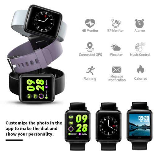 Спортивные Смарт-часы фитнес-трекер напоминание о звонках умный Браслет мониторинг сердечного ритма часы Bluetooth водонепроницаемые