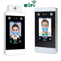 Medición de la temperatura corporal WIFI TCP/IP, reconocimiento Facial dinámico, tiempo de asistencia y sistema de Control de acceso
