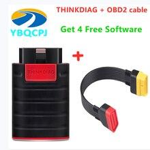 Lançamento thinkdiag com 4 software livre sistema completo pensar diag obd2 código reade diagnóstico 15 serviços de reset pk ap200 easydiag golo