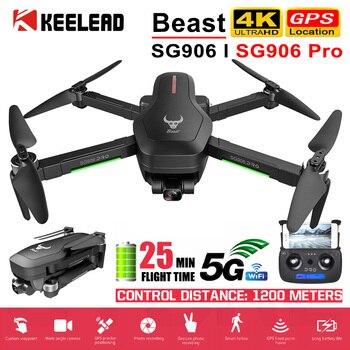 Drone SG906 / SG906 Pro con GPS 4K 5G WIFI 2-eje cardán Cámara Dual profesional CES 50X Zoom sin escobillas RC Quadcopter helicóptero Quadcopter RC helicóptero RC