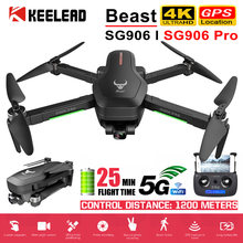 Drone SG906 / SG906 Pro mit GPS 4K 5G WIFI 2-achsen gimbal Dual kamera professionelle ESC 50X Zoom Bürstenlosen Quadcopter RC Eders(China)