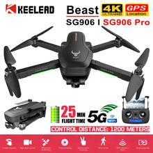 Drone SG906 SG906 Pro z GPS 4K 5G WIFI 2-osiowy gimbal podwójny aparat profesjonalnego ESC 50X Zoom bezszczotkowy quadkopter RC Dron tanie tanio KEELEAD 1080 p hd video recording 720 p hd video recording Kamera w zestawie Brak 1200M Build in 6 Axis Gyro 12 4cm 4 kanałów