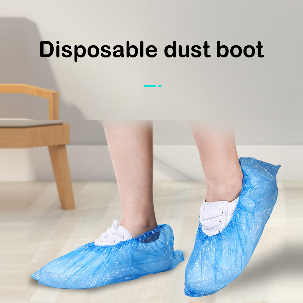Dustproof And Waterproof Shoes Boot Cover Zipper Rain Shoe Covers High-Top Anti-Slip Shoes Home Indoor Cleaning Supplies @30