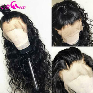 Image 3 - Brazilian Deep Curly Human Hair Wig 13x6 Lace Front Human Hair Wig 150% Density For Black Women Pre Plucked Remy Hair Lace Wigs