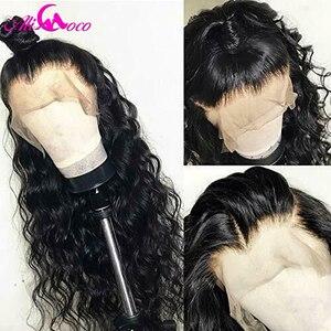 Image 3 - Peluca brasileña profunda rizada del pelo humano 13x6 peluca frontal del pelo humano de la densidad del 150% para las mujeres negras pelucas del cordón del pelo Remy Pre desplumado