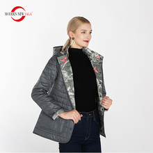MODERN NEW SAGA 2019 New Autumn Collection Women Short Coat And Jacket Female Slim Cotton Padded Basic Tops Thin Hooded Parkas