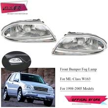 ZUK – paire de phares antibrouillard pour voiture, pour mercedes benz ML320 ML350 ML400 ML500 W163 1998 – 2005 OEM:1638200328 1638200428