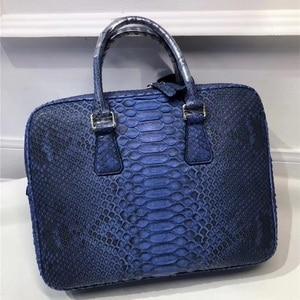 Image 5 - Genuine Python Leather Businessmen Laptop Briefcase Man Large Purse Authentic Real Snakeskin Male Top handle Handbag
