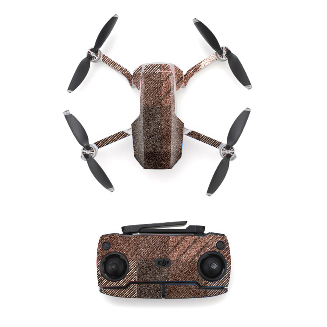 Grey Twill Style Skin Sticker For DJI Mavic Mini Drone And Remote Controller Decal Vinyl Skins Cover M0070