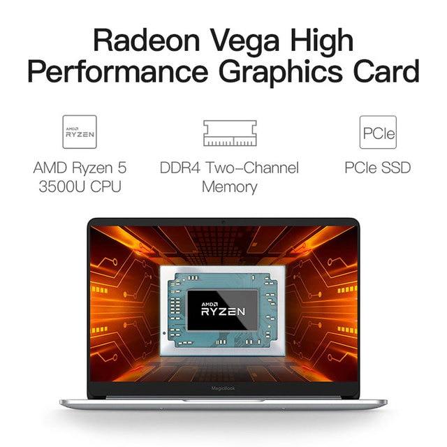 HUAWEI HONOR MagicBook 2020 Taccuino Del Computer Portatile Del Computer 14 pollici AMD Ryzen 5 3500U 8G 256GB PCIE SSD FHD IPS Computer Portatili ultrabook