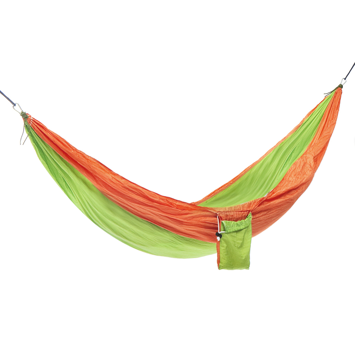 Double Camping Parachute Hammocks With 2 Straps 2 Carabin Survival Garden Outdoor Furniture Leisure Sleeping Bed Travel Hammocks