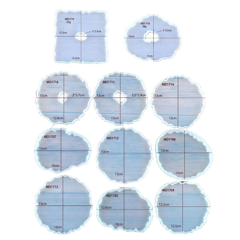 Large Irregular Wave Round Coaster Mold Cup Mat Silicone Resin Mold Epoxy Resin Cement Casting Jewelry DIY Making Art Tools