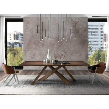 Coffee dining table solid wood veneered in Walnut, Italian design Dining table, modern table, table 1033 Angel Cerdá S.L