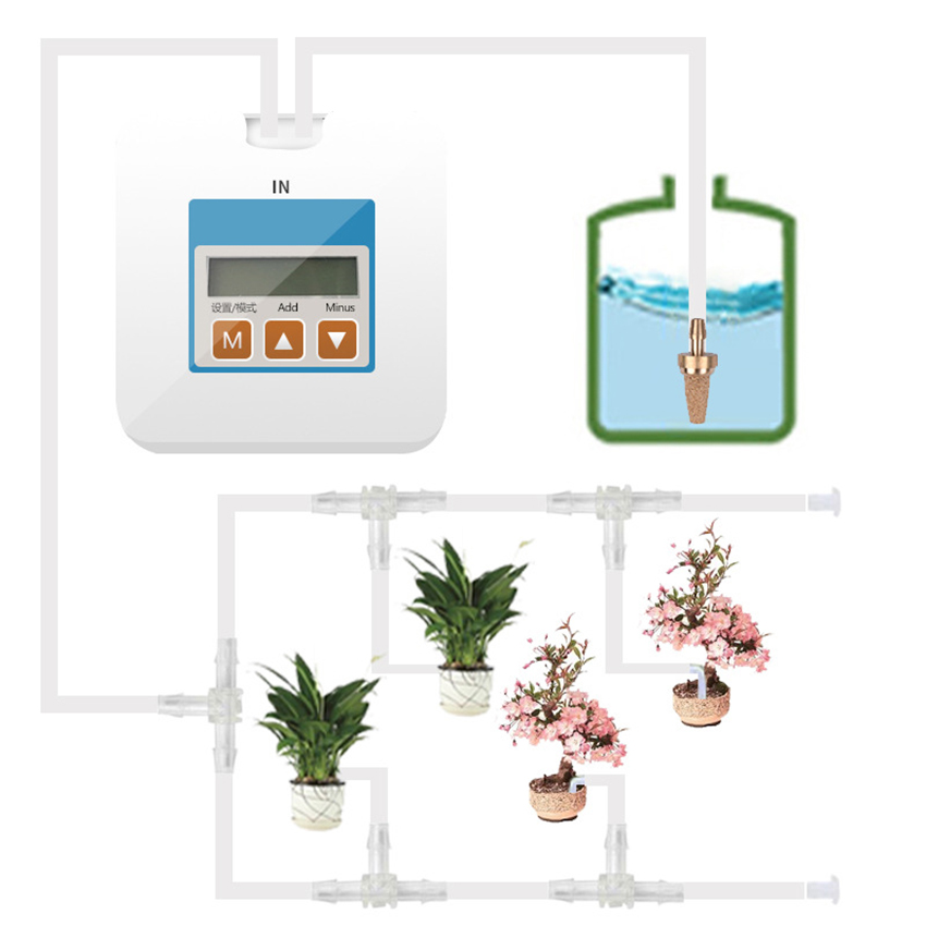 2019 Garden Automatic Watering Device Home Intelligent Timing Irrigation System Water Pump Seepage Drip Watering Flowers Potted