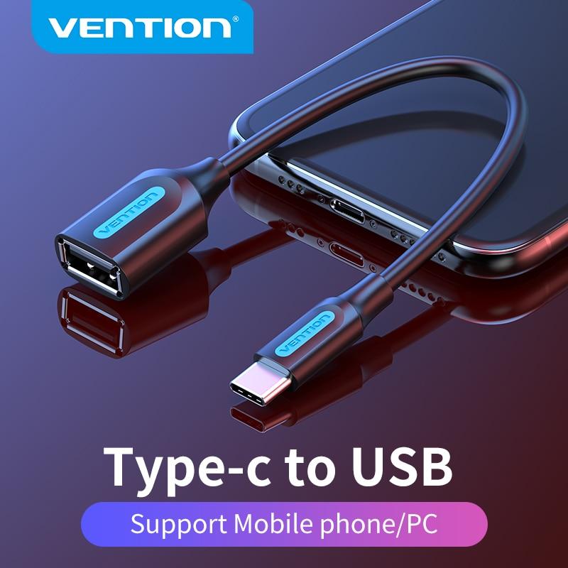 Vention USB C к USB OTG кабель адаптер USB Type C папа к USB 3,0 2,0 Женский Для Macbook Pro Samsung S20 USB C OTG адаптер