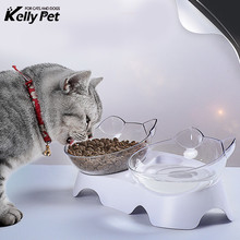 Non-slip Cat Bowls Mascotas Double With Raised Stand Pet Food&Water For Cats Dogs Feeders Products Bowl