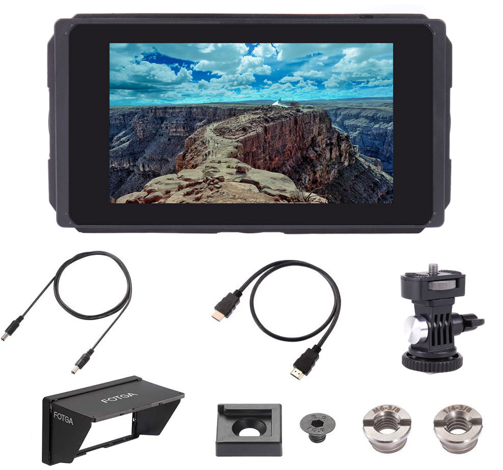 Fotga c50 5 Polegada 3g sdi 3d-lut câmera monitor 2000nit hd ips touchscreen câmera monitor de campo