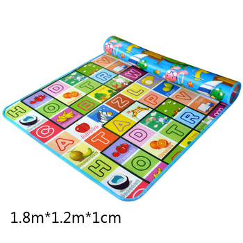 Baby Crawling Mat Climbing Baby Outdoor Activity Moisture-proof Pad Double-sided 1.8*1.2 Meters Thickened 1CM Baby Activity Mat good little baby crawling mat climb pad double sided pattern of increased moisture thicker section skid game blanket outdoor pad