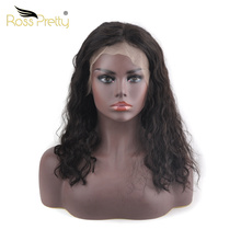 Ross Pretty Remy Black Color Bob wigs Pre plucked Brazilian Lace Front Human hair natural wave black lace frontal