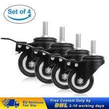 Roulettes résistantes de meubles de 200kg avec des roues de chaise de bureau de 360 degrés roulettes pivotantes de la roue 50mm de meubles de 4 pièces avec des freins