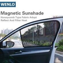 WENLO 2Pcs Magnetic Car Front Side Window Sunshade For Benz A CLASS-W176 B CLASS-W246 C CLASS-W205 E CLASS-W213 S CLASS-W221 vox class a