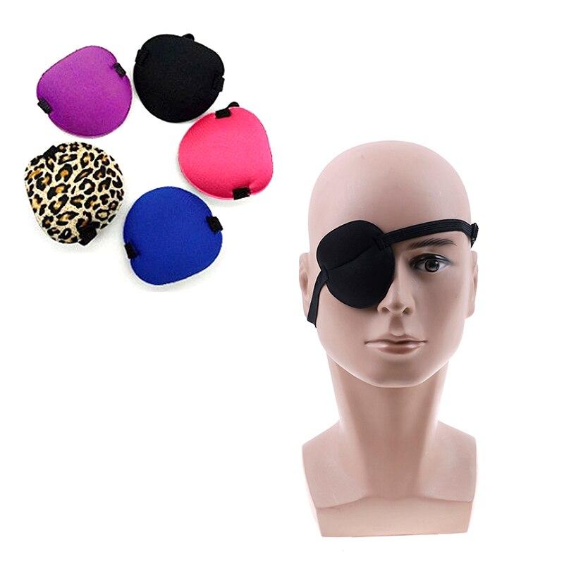1PCS One-eyed Cover Single Eye Cover Adjustable Eyeshade Sleeping Eye Mask Portable Soft Eye Patch Amblyopia Traning Goggle