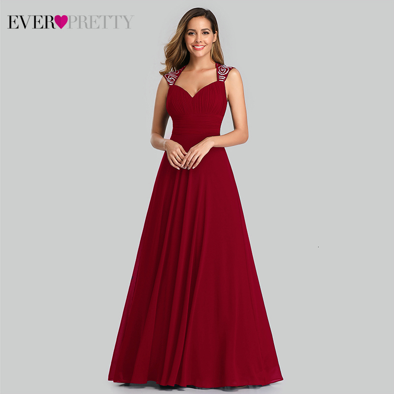 Simple   Evening     Dresses   Ever Pretty EP09672 A-Line V-Neck Sleeveless Ruched Elegant Chiffon Formal   Dresses   For Party Abendkleider