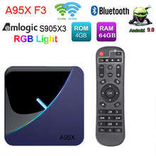 A95X F3 RGB Lampu Amlogic S905X3 TV Box Android 9.0 GB16GB 4GB 64GB 32GB 8K 60fps wifi Netflix Media Player 2(Canada)