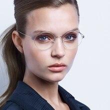 الدنمارك نظارات ماركة يدوية إطار نظارات الرجعية التيتانيوم إطار نظارات مستديرة قصر النظر نظارات Oculos دي غراو نظارات غلين
