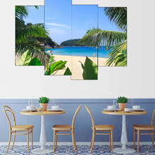 Laeacco Canvas Modular Painting Wall Art Picture Blue Sky Seaside Posters and Prints Living Room Bedroom Decor