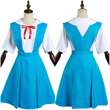 Neon Genesis Evangelion EVA Asuka Langley Soryu/Ayanami Rei Cosplay Costume School Uniform Dress Outfits Halloween Carnival Suit