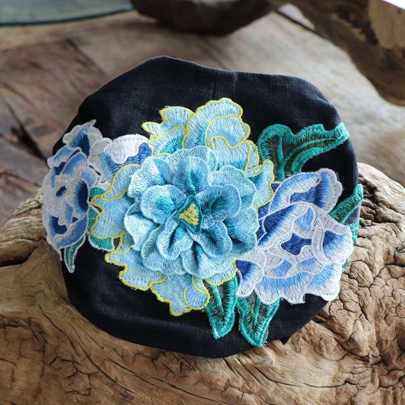 Ethnic Embroidered Turban Fashion Cap Hat  Wash Headband Wholesale