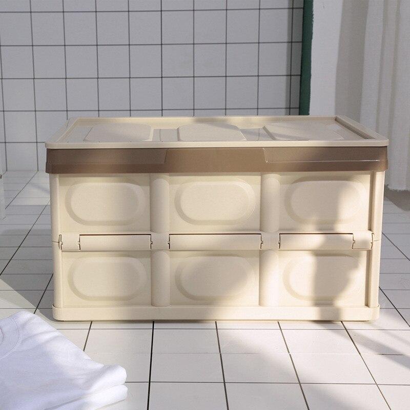 56 L boîte de rangement de voiture pliante multifonctionnel bureau maison pique-nique extérieur garde-robe organisateurs boîte de rangement en plastique finition de voiture