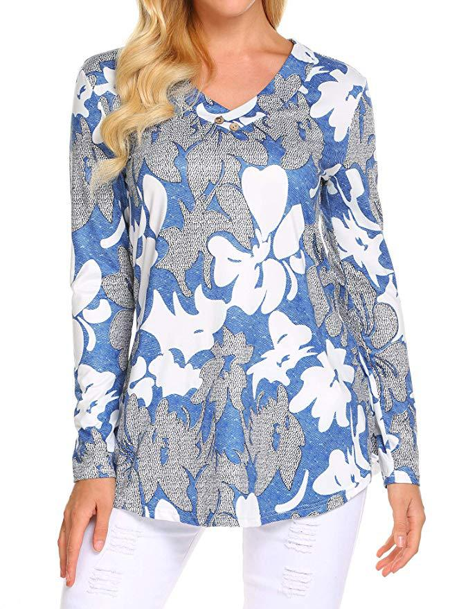 H7386c60a60ac44c992e83c4f00726168f - Large size Blouse Women Floral Print Long Shirts elegant Long Sleeve Button Autumn Tunic Tops Plus Size Female Clothing