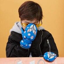 Новые Зимние Детские утепленные лыжные перчатки с рисунком оленя и кролика детские ветрозащитные водонепроницаемые Нескользящие варежки с длинными рукавами# DN