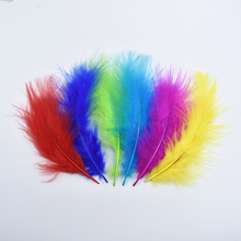 100Pcs/Lot  Marabou Feathers Turkey Feather Pheasant for Crafts Jewelry Making Wedding Decoration