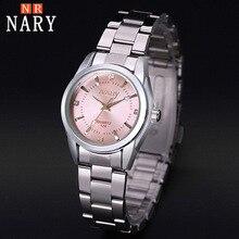 цена на NARY watch women fashion luxury Brand reloj Mujer Stainless Steel Quality Diamond Ladies Quartz Watch Women watches montre femme