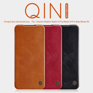 Image 2 - For Xiaomi Redmi Note 9 /9 Pro Flip Case NILLKIN QIN Series Flip Leather Cover For Redmi Note 9 Pro max with wake/Sleep Function